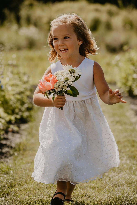 Flower Girl at Maine Wedding Venue