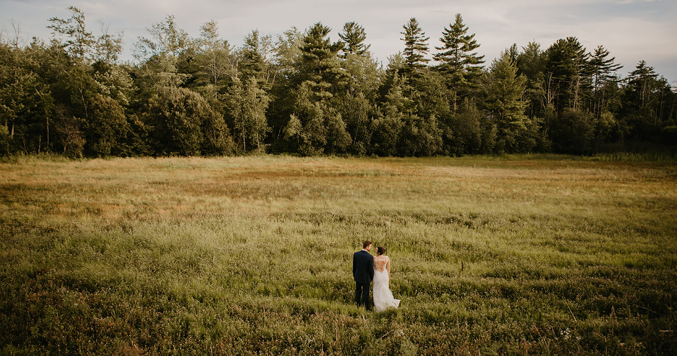Maine Wedding on the Lawn in Scarborough, Maine