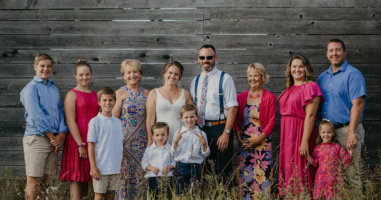 Family photo at Maine Wedding Venue
