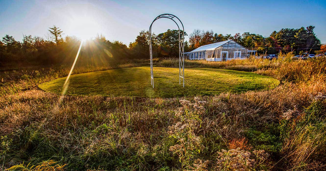 Ceremony Space at the Maine Wedding Venue